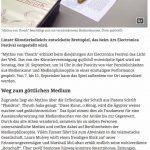 qujOchÖ entführt in die Welt der Medientheorie (StadtRundschau Linz, 1. September 2017)